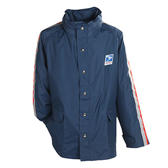 Mens Breathable Postal Rain Parka for Letter Carriers and Motor Vehicle Service Operators