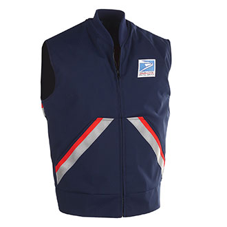 Postal Insulated Vest for Men Letter Carriers and Motor Vehicle Service Operators
