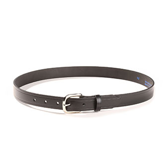 "Black Leather Belt 1"" Wide Ladies"