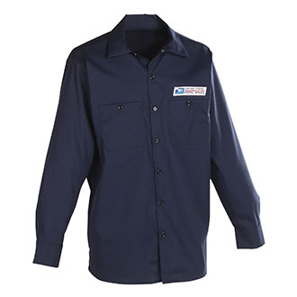 Postal Uniform Shirt Poplin Long Sleeve for Mailhandler and Maintenance and Custodial