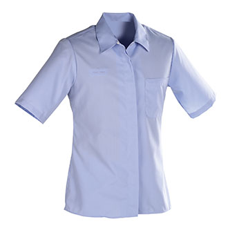 Womens Short Sleeve Shirt for Window Clerks