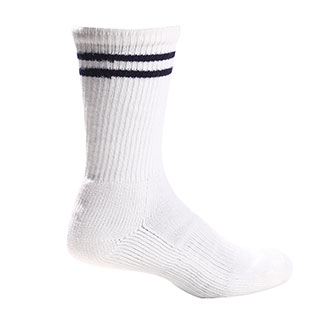 Pro Feet White Acrylic Crew Length Sock - Large