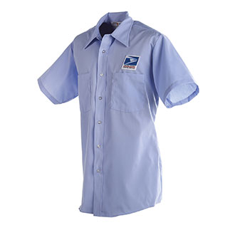 Postal Uniform Shirt Mens Short Sleeve for Letter Carriers and Motor Vehicle Service Operators