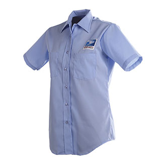 Postal Uniform Shirt Womens Short Sleeve for Letter Carriers and Motor Vehicle Service Operators