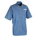 Postal Uniform Shirt Denim Short Sleeve for Mail Handlers and Maintenance Personnel