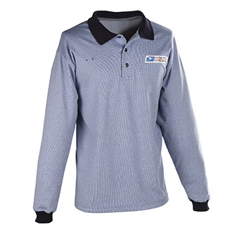 Postal Uniform Shirt Womens Polo Long Sleeve for Window Clerks