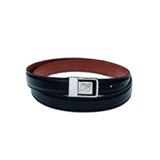 Black Leather Window Clerks Belt with Postal Eagle Logo Buckle